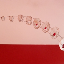 Pauline Le Goïc, vitrail Tiffany et plomb. Verre bulleyes et artista