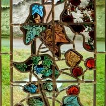Pauline Le Goïc, Vitrerie façon art déco montée au plomb et peint à la grisaille et à l'émail