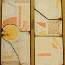 Pauline Le Goïc, Maquette papier et armature pour la dalle de verre aux lucioles