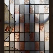 Pauline Le Goïc, Ôsage, おさげ, Portes shoji en vitrail, montées au plomb avec insertions de verres colorés et de papiers washi texturés