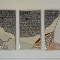 Pauline Le Goïc, Armorique Vitrail, vitraux de l'atelier avec verre et papier washi