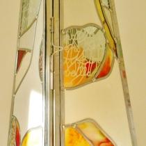"""Pauline Le Goïc, Armorique Vitrail, lanterne """"Safran-Filaments"""""""